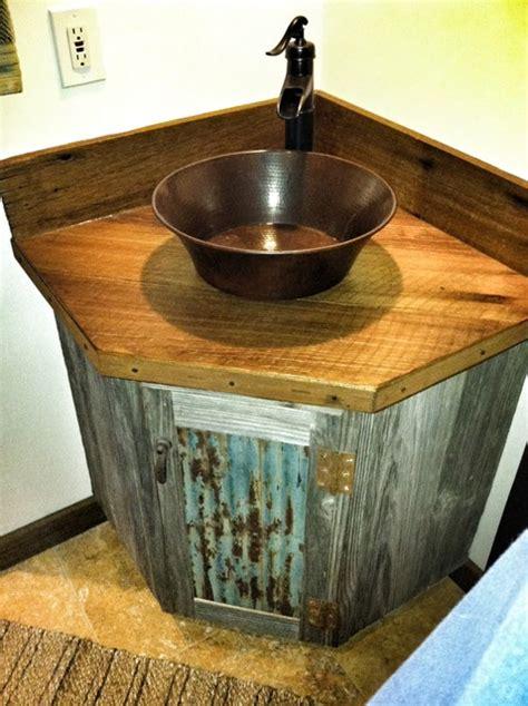 Small Bathroom Sinks Lowes by Barn Wood Vanity Rustic Bathroom San Luis Obispo