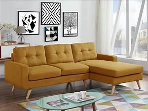 canape d39angle en tissu bleu anthracite jaune sigrid With tapis de couloir avec canapé tissu convertible