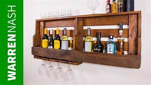Make A Pallet Wine Rack With Glass Holder In A Day
