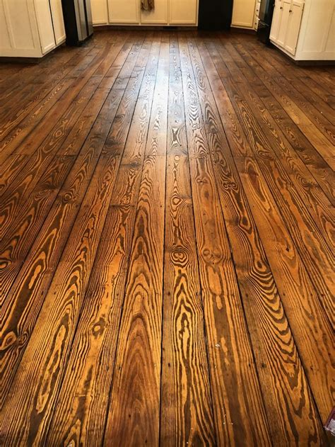 yellow pine stained  provincial traditional