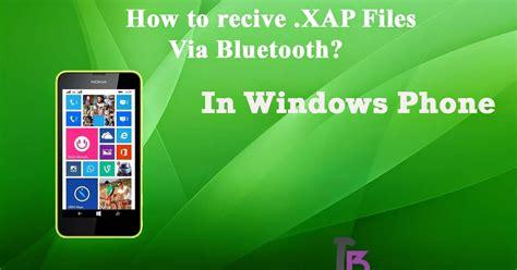 how to send xap file to windows phone via bluetooth
