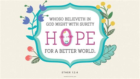 daily quote hope    world mormon channel