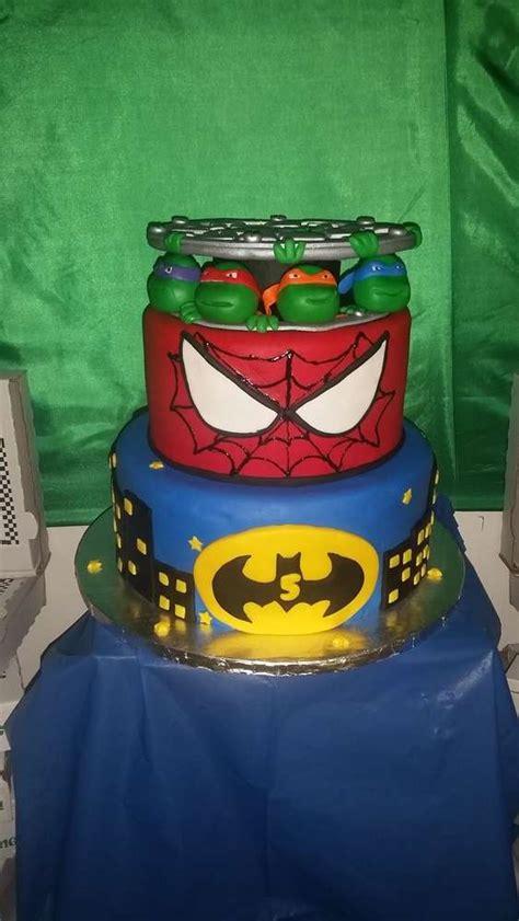 Cookies For Baby Boy Shower by Teenage Mutant Ninja Turtles Batman Spiderman Birthday