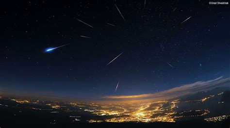 viewing  perseid meteor shower   american