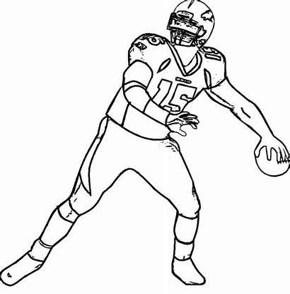 Coloring Football Nfl Quarterback Players Printable Player