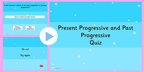 Identifying Present Progressive or Past Progressive PowerPoint