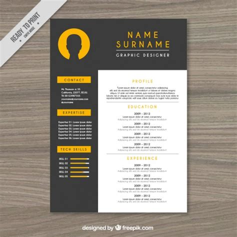 resume template vector free