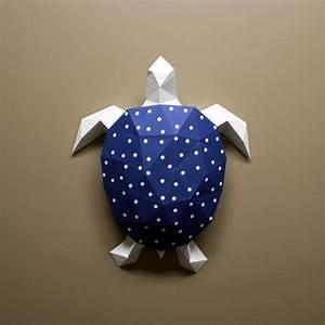 diy paper sculpture kit turtle