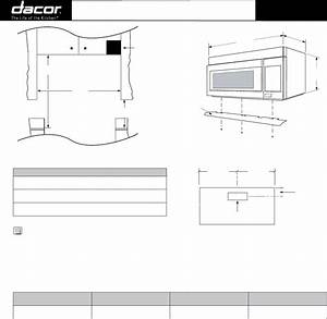 Dacor Microwave Oven Pcor30 User Guide