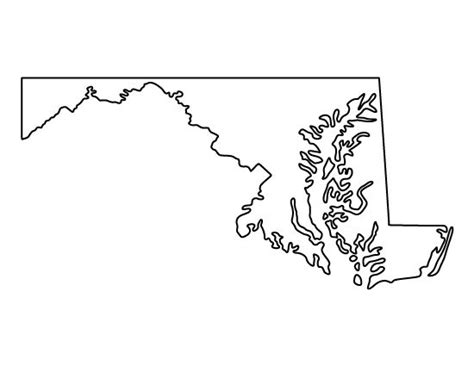 Maryland Will Template by Maryland Pattern Use The Printable Outline For Crafts