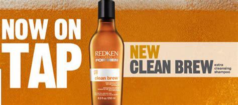 washing  hair  beer redken clean brew review