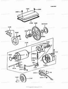 Kawasaki Motorcycle 1992 Oem Parts Diagram For Starter