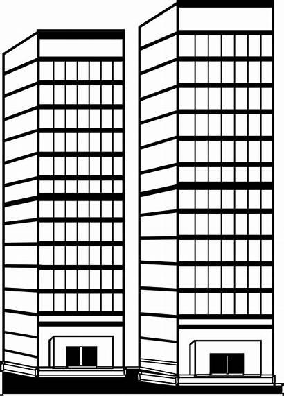 Skyscraper Coloring Architecture Buildings Printable Drawing Drawings