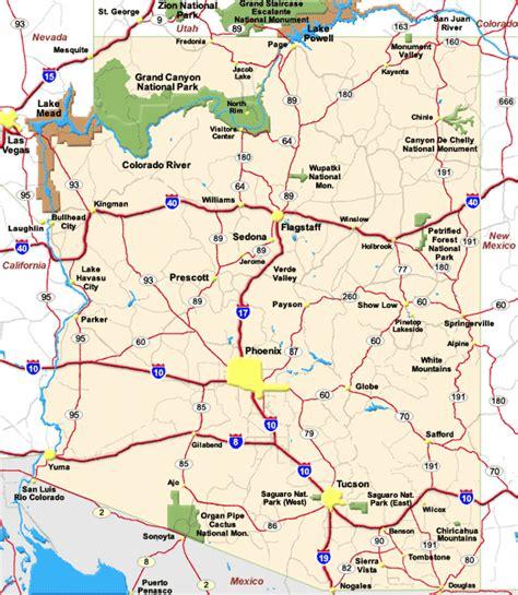 Arizona Map And Arizona Satellite Image