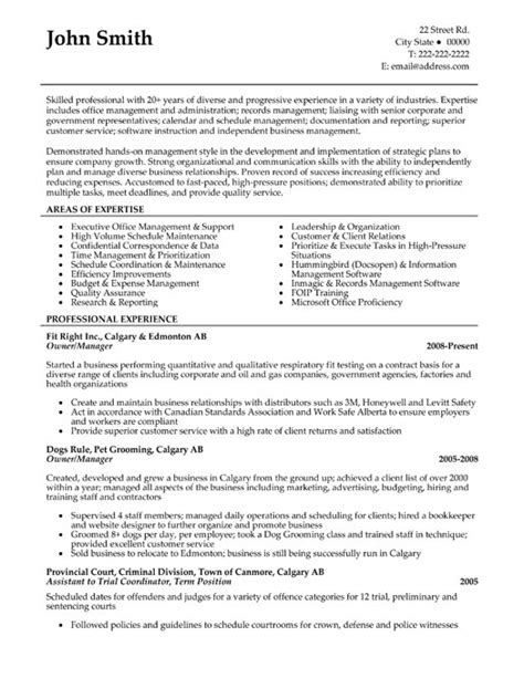 owner or manager resume template premium resume sles