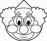 Clown Coloring Face Clipart Pages Scary Fish Printable Drawing Clowns Clipartmag Colouring Print Getcolorings Balloons Clip sketch template
