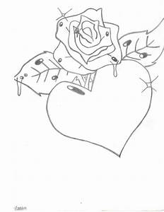 Heart And Rose Drawing - KingYoshi713 © 2016 - Jul 13, 2010