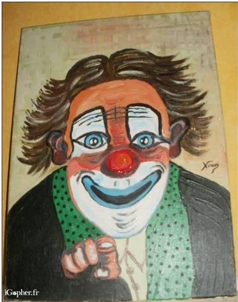 bureaux a louer peinture sur toile d 39 un clown signée ninon igopher fr