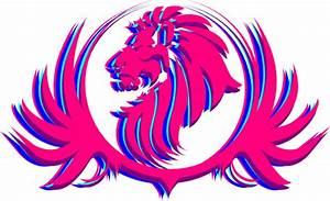 Pink Lion Crest Clip Art at Clker.com - vector clip art ...
