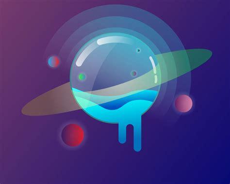 galaxy planet vector mockup templates images vectors