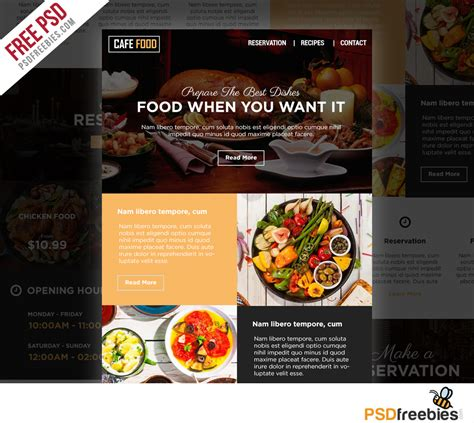 cuisine p駻鈩e food and restaurant e newsletters free psd template psdfreebies com