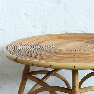 Table Basse Retro : table basse rotin vintage atelier du petit parc ~ Teatrodelosmanantiales.com Idées de Décoration