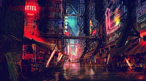 science fiction cyberpunk futuristic city