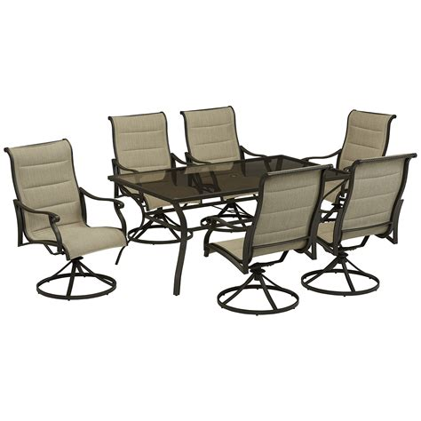 Grand Resort Aspen Patio Furniture by Compare Miscellaneous Grand Resort Aspen 7pc Padded Sling