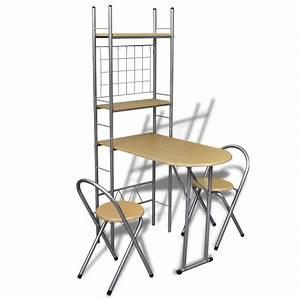 Chaise De Bar Pliable : acheter jeu de bar petit d jeuner pliable avec 2 chaises pas cher ~ Nature-et-papiers.com Idées de Décoration