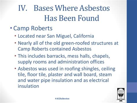 asbestos   united states military