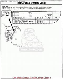 Honda Xr600r 1987  H  Usa Instructions Of Color Label