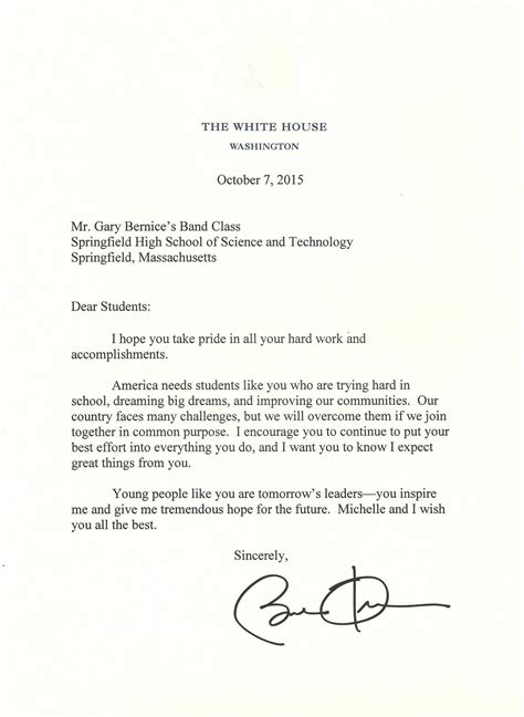 letter to the president beautiful letter to the president cover letter exles 14500