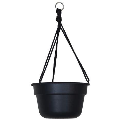home depot hanging ls bloem 12 in black dura cotta plastic hanging basket