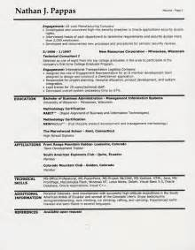 second page resume header exle sle resume headings sle resume