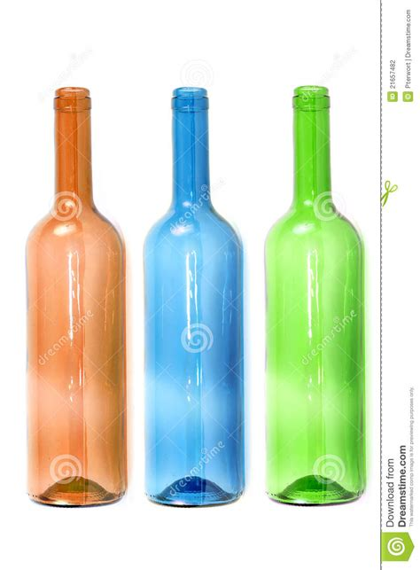 colored wine bottles empty colored wine bottles stock photography image 21657482