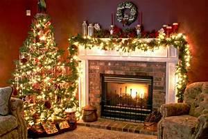 Christmas Tree and Fireplace