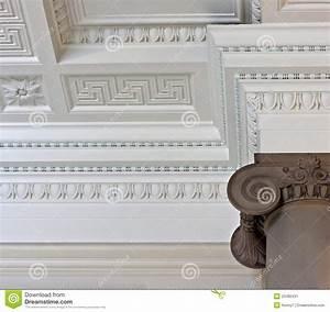 Corniche Plafond Platre : plafond compliqu de corniche de pl tre image stock ~ Edinachiropracticcenter.com Idées de Décoration