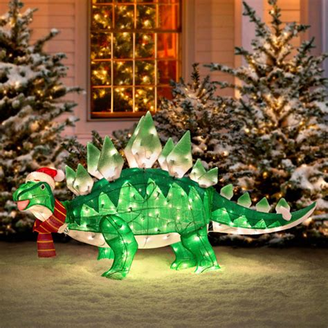 lawn decorations for christmas dino xmas lawn decoration incredible things