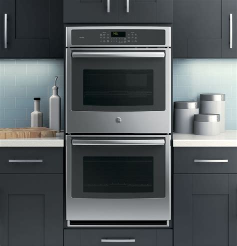 pksfss ge profile series  built  double convection wall oven stainless steel