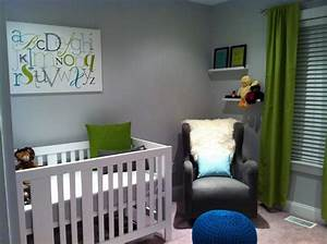 Baby liam39s eclectic nursery striped nursery lowes for Modern unisex nursery ideas