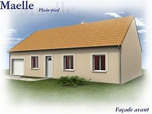 plan maison plain pied 12m de facade With facade maison plain pied