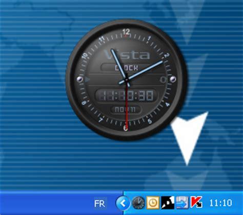 mettre une horloge sur le bureau vista clock télécharger