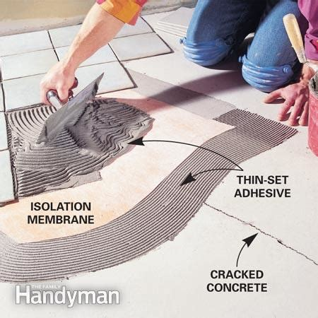 durock tile membrane adhesive how to find a contractor the family handyman