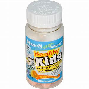 Mason Vitamins, Healthy Kids, Cod Liver Oil Chewable, with ...