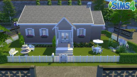 les sims 4 maison simple 100 jeu de base construction speed build