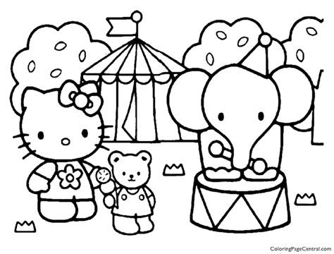 Hello Kitty Coloring Page 17 Coloring Page Central