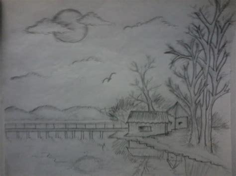 Scenery Pencil Shading Drawings