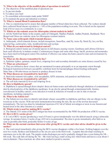 Health Questions And Answers by Health Questions And Answers For Students