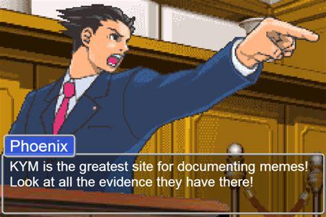 Phoenix Wright Memes - phoenix wright ace attorney know your meme