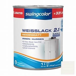 Swing Color Farben : swingcolor 2in1 wei lack wei 1 l seidenmatt bauhaus ~ A.2002-acura-tl-radio.info Haus und Dekorationen